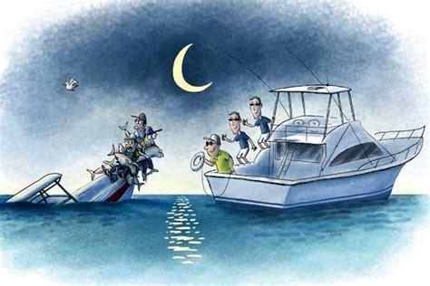 Boat Rescue Cartoon by Revenge Of The Tuna Boatus Magazine