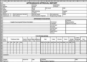 ppap forms in excel compatible with aiag 4th ed With ppap documents