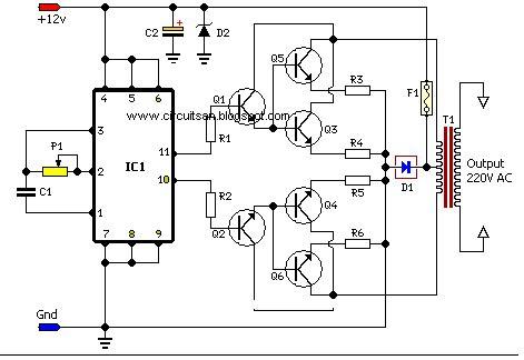 Build Watt Inverter Circuit Diagram