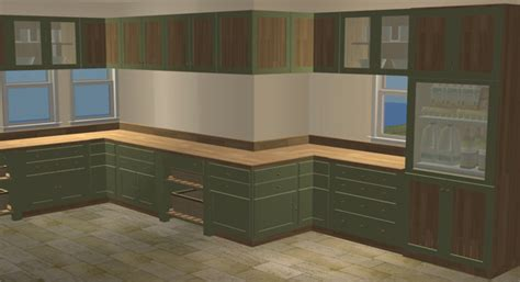 how to make use of corner kitchen cabinets mod the sims updated 05 02 07 modern rustic kitchen 9798