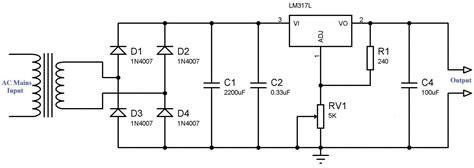 variable power supply  lm voltage regulator