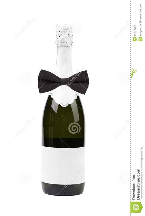 black bow tie  bottle  champagne stock image image