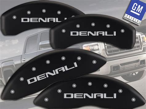 gmc sierra   hd denali front rear matt mgp brake caliper cover ebay