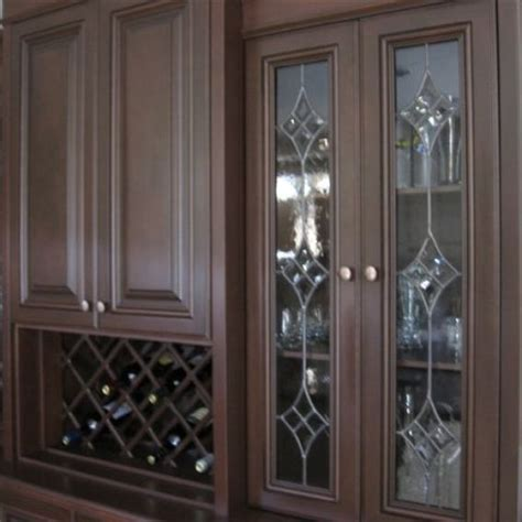 decorative glass inserts for kitchen cabinets handmade leaded glass inserts for cabinets by glassworks 9557