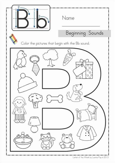 Free Printable Letter B Worksheets For Kindergarten  Printable 360 Degree