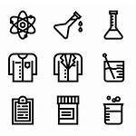 Lab Icons Chemical Laboratory Equipment Vector