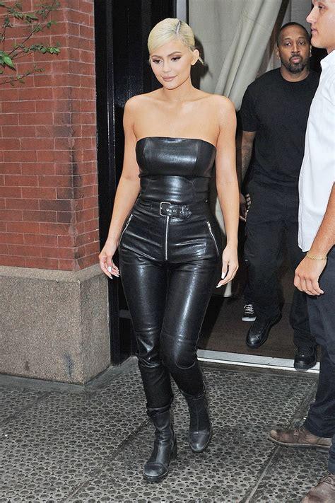 kylie jenner     york city leather celebrities