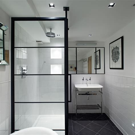 bathroom mirror and lighting ideas black frame showers sophisticated with modern industrial