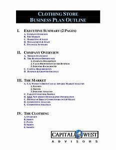 clothing line business plan template free free business With business plan template for fashion brand