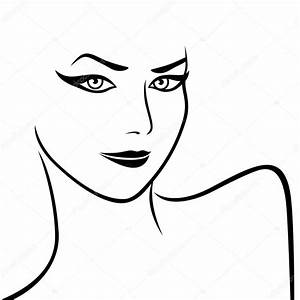 Épaules et visage féminin abstrait — Image vectorielle ...