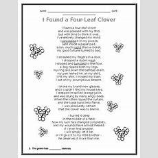 Poem  Reading Comprehension Passage (free) Tpt