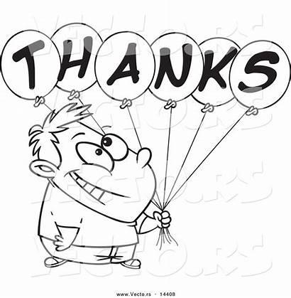 Thankful Cartoon Coloring Grateful Clipart Thanks Boy