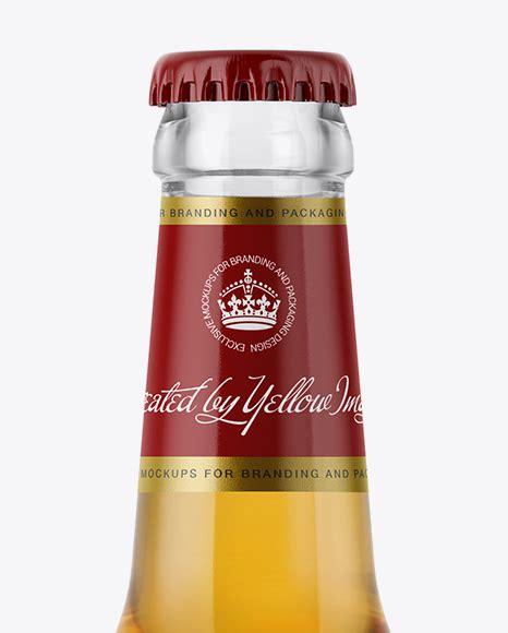 Heineken lager beer bottle, 24 x 330ml. 330ml Clear Glass Bottle with Lager Beer Mockup in Bottle ...