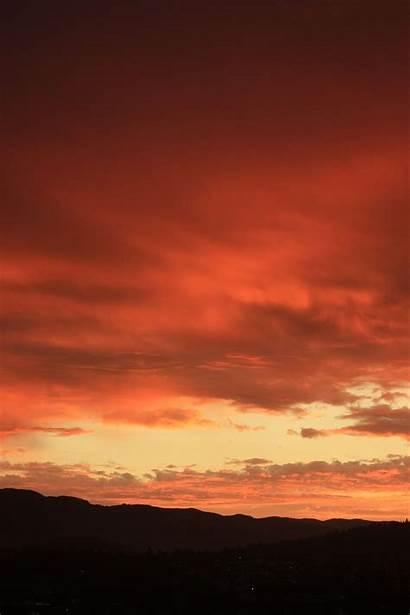 Orange Dawn Canada Hues Crack Vancouver Afterglow