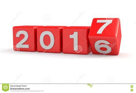 3d Concepto 2017 Cubos Del Año Nuevo Rojo Stock de