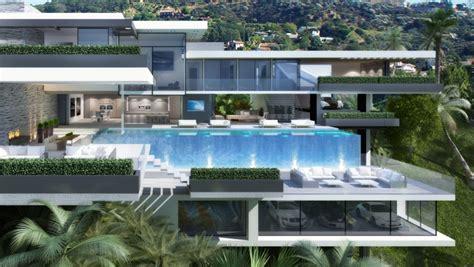 modern mansions  sunset plaza drive  la architecture design