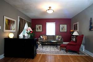 Red Feature Wall Living Room Images