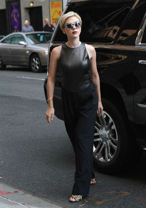Scarlett Johansson Late Show with Stephen Colbert