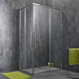 porte de douche coulissante angle rectangle l80 x l120 With porte coulissante douche 80