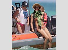 Irina Shayk almost suffers a wardrobe malfunction as