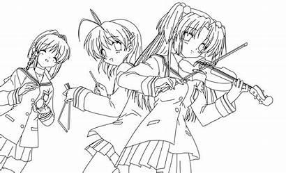 Coloring Anime Manga Clannad Colorear Dibujos Pintar