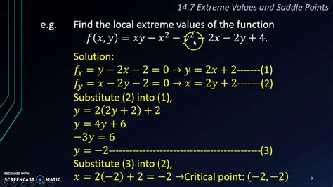 saddle point local extrema