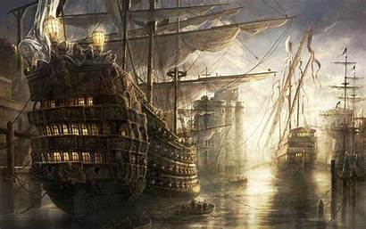 Pirate Ship Wallpapers Backgrounds Ships Battle Tall