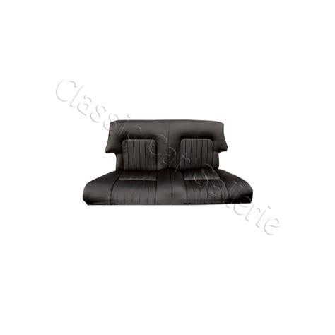 siege cabriolet ensemble garnitures de sièges complet simili noir pour