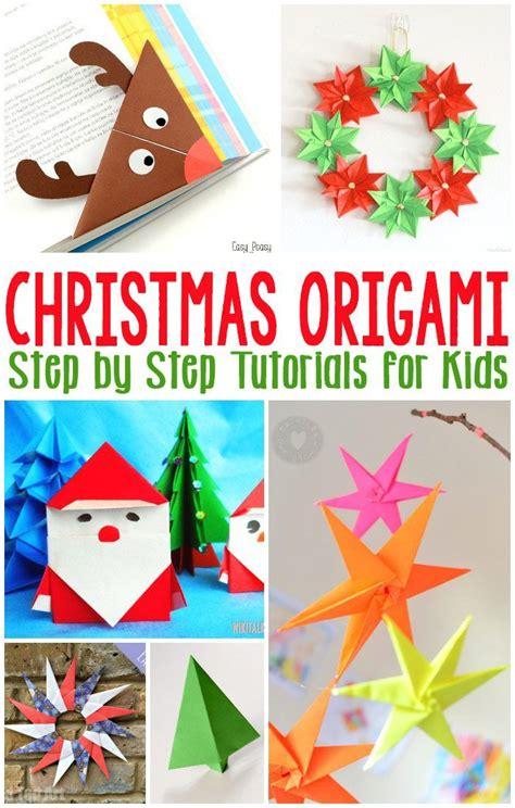 christmas origami  kids christmas pinterest