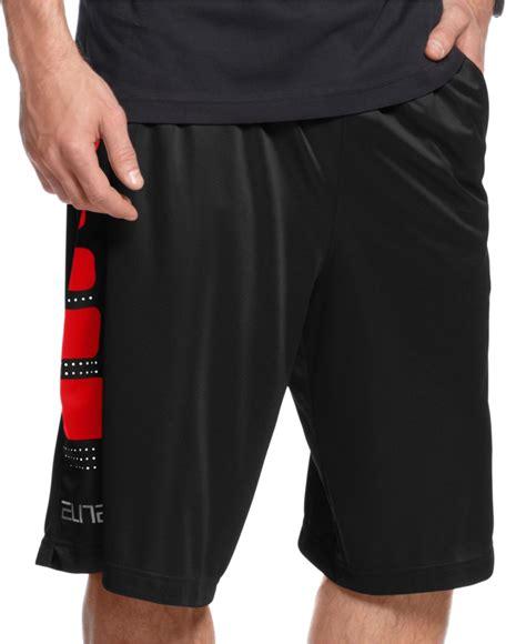 "Nike Men's Elite Stripe 12"" Basketball Shorts in Black for"