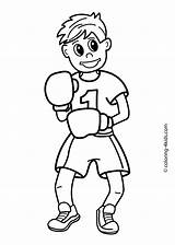 Coloring Boxing Printable Sports Sport 4kids источник sketch template