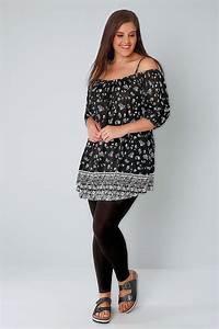 Black Viscose Elastane Leggings Plus Size 16 to 32