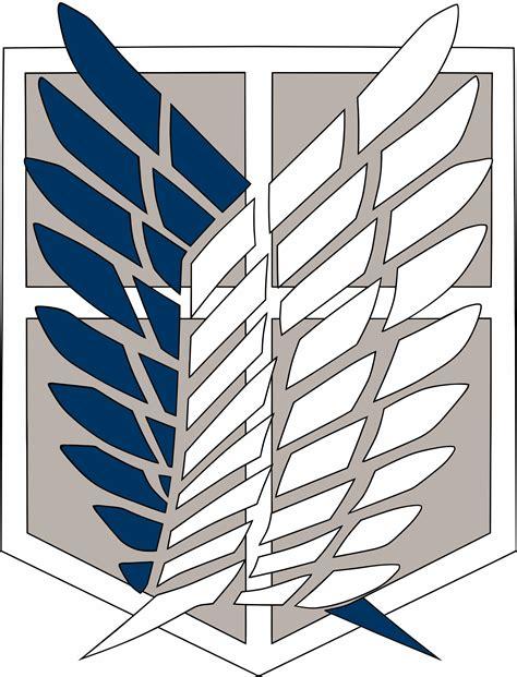 shingeki  kyojin asas da liberdade logo logo vector