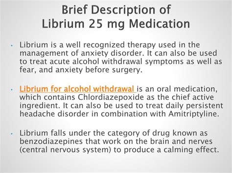 buy librium  mg medication  alcohol withdrawal