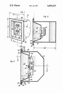 patent us4059327 recessed electrical outlet google patents With wall outlet wiring
