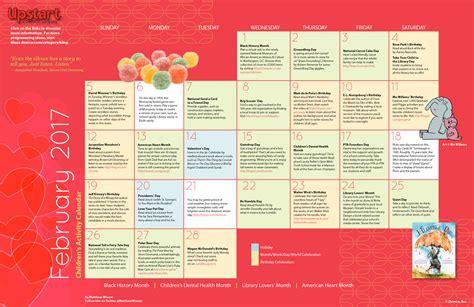 childrens activity calendar february
