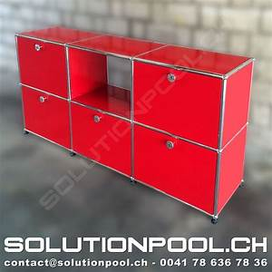 Usm Second Hand : usm sideboard rot solutionpool first class second hand for home and office ~ Sanjose-hotels-ca.com Haus und Dekorationen