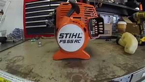 Stihl Fs55 Rc Clutch Drum  Clutch  And Flywheel Removal