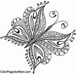 Coloring Butterfly Colorir Borboletas Adults Adult Staples Drawing sketch template