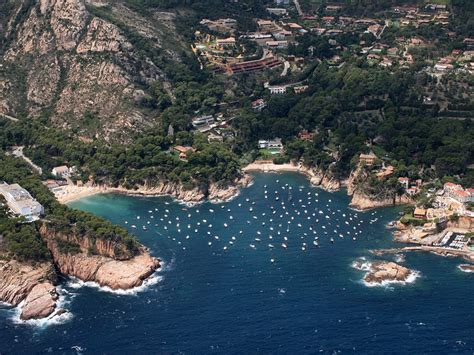aiguablava begur spain costa brava view  height