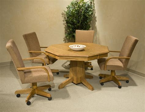 dining table with chairs on wheels dining chairs design
