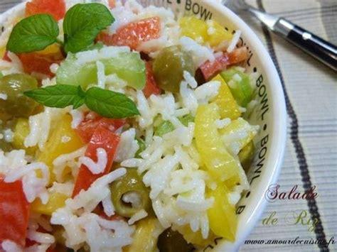 recettes de salade de riz de amour de cuisine chez soulef