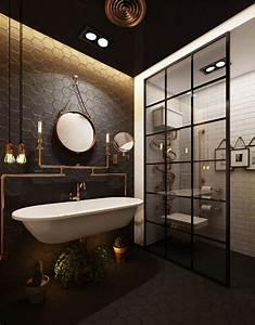 Miroir Rond Suspendu : comment d corer la salle de bain r tro id es d co en plus de 80 photos inspirantes dld ~ Teatrodelosmanantiales.com Idées de Décoration