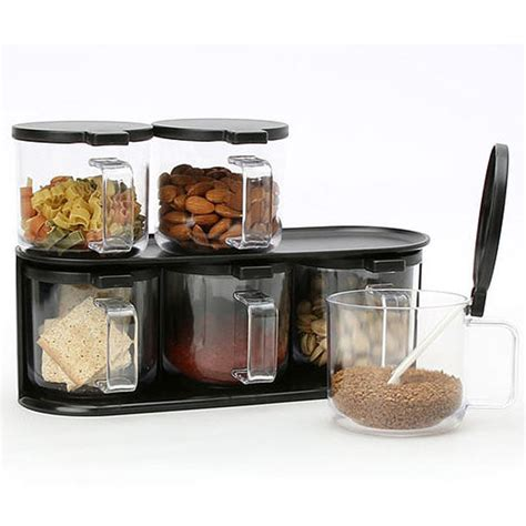 Kitchen Storage Canisters by 6 Set Handle Jar Food Spice Canisters Kitchen Storage
