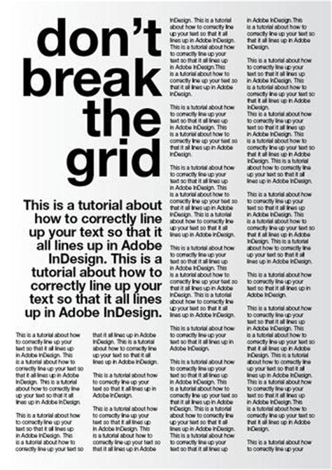 good typography using a baseline grid in indesign adobe indesign