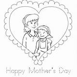 Coloring Daughter Mother Child Pages Mom Junkie Printable Template Getcolorings sketch template