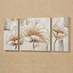 blooming splendor floral triptych canvas set
