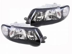 Black Headlights Pair Holden Vx Commodore 00-02 Vu Ss Ute