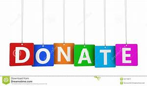 Donate Sign stock image. Image of design, colorful ...
