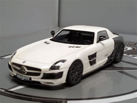 Mercedes-benz Sls Brabus 700 Biturbo Diecast Model Car In